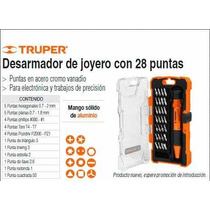 Desarmador Para Celulares Con Torx Truper 28 Piezas