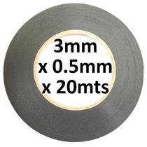 Cinta Espuma Doble Cara 3mm X 20m Negra Espesor 0.5mm !!