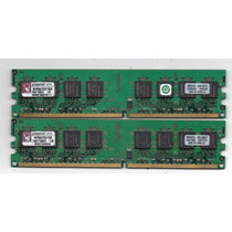 Kingston( 2 Piezas 1gb ) Cp2-5300 Ddr2 667mhz Memoria Ram
