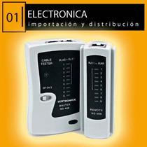 Tester 2en1 Probador Cable Red Utp Y Telefonico C/ Funda Lbf