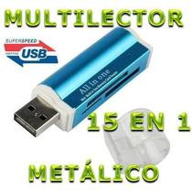 Multilector De Memorias Metalico Usb Micro Sd Memory Stick