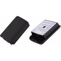 Tapa Porta Baterias Para Control De Xbox 360 Negro Y Blanco
