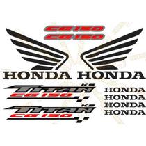 Jgo De Stickers Calcomanias Para Moto Honda Titan Cg150