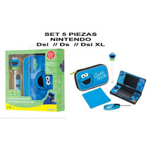 Set 5 Piezas Nintendo Ds, Dsi, Dsi Xl Cookie Monster Estuche