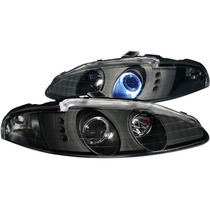 Mb Eclipse 95-96 Projector H.l G3 2 Halo Only 1 Black Led