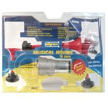 Corneta 3 Bocinas Con Compresor Tono Musical Caballeria