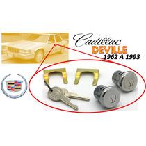 62-93 Cadillac Deville Chapas Para Puertas Llaves Cromadas