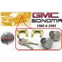82-93 Gmc Sonoma Chapas Para Puertas Con Llaves Cromadas