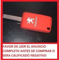 Funda Silicón Rojo Para Llave Peugeot 207