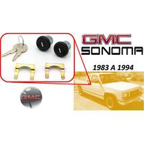 83-94 Gmc Sonoma Chapas Para Puertas Con Llaves Color Negro