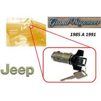 85-91 Jeep Grand Wagoneer Switch De Encendido Llaves Negro
