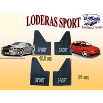 Loderas Universales Para Carro Chico Con Letrero Sport Lo001