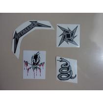 Set De 4 Calcamonias Stickers De Metallica