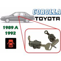89-92 Toyota Corolla Chapas Para Puertas Con Llaves