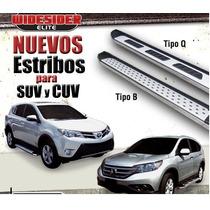 Estribos Planos Acero Inox. Toyota Rav4 08 - 13