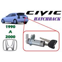 90-00 Honda Civic Hatchback Chapa Para Cajuela Con Llaves