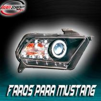 Faros Para Mustang Con Tira De Led Mod. 2009- 2012