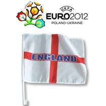 Inglaterra Bandera Del Coche - Cruz De San Jorge Euro 2012 V