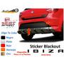 Sticker Blackout Seat Ibiza 2010 Al 2015 Varios Colores