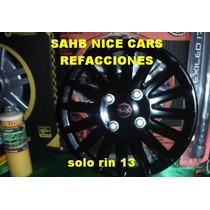 Tapon De Rin 13 Negro Universal Nicecars
