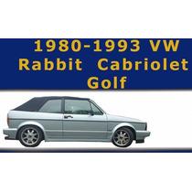 Capota Top Techo Convertible Para Vw Golf 1980 - 1993