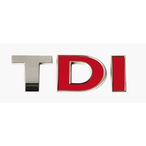 Divisa Del Coche - Cromo Rojo Tdi Van Auto Adhesivo Emblem