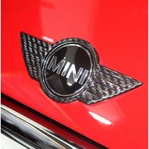 Mini Cooper Cubre Emblema Fibra De Carbon