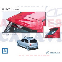 Chevy Spoiler Oficial Modelos 1994 Al 2012 Con Stop 35 Leds