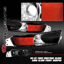Cuartos Negros Ford Mustang 05 06 07 08 09 Gt V6 V8 Saleen