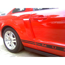 Mustang 2006 2009 Louvers Aerodinamicos Nuevos Color Rojo