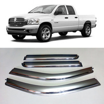 Dodge Ram Pick Up 4 Puertas Deflectores Cromados Importados