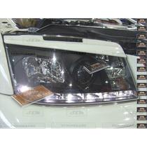 Cejas Faros Vw Jetta A4 Euro Mk4 Plastico Abs Carat Vr6 Gli
