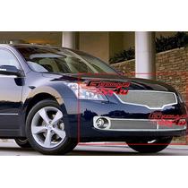Combo Parrillas Mesh Cromadas Nissan Altima 2007 2008 2009
