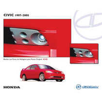 Biseles Porta Faros De Niebla Honda Civic 01-05