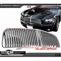 Parrilla Vertical Cromada Dodge Charger 06 07 08 09 Super Rt