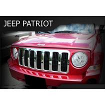 Cubre Parrilla Cromada De Jeep Patriot 2007 - 2010 Nueva!!!