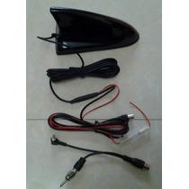 Antena Tiburón Amplificada Dual Digital Tv Tuner Fm Vhf Uhf