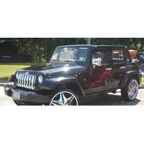Cubre Manijas Cromadas Jeep Wrangler/sahara 07-14,accesorios