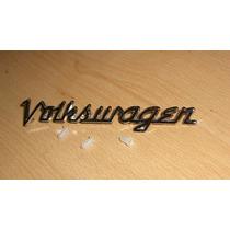 Emblema Script Cofre Para Vw Sedan Vocho Cromado Oem Rm4