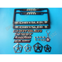 Emblemas Chrysler Spirit Porta Placas Llavero Pivotes Kit