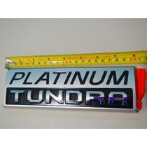 Platinum Tundra Emblema 20 X 6.5 Cm Nuevo Original Aluminio