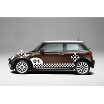 Sticker Vinil Tuning Franja Lateral Number Para Mini Cooper