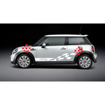 Sticker Vinil Tuning Franja Lateral Flag Para Mini Cooper