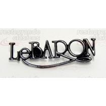 Emblema Leyenda Lebaron Metalico Lateral, Nuevo