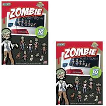 Nuevo (set/2) Packs Zombie Familia Del Vinilo Del Coche Figu