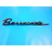 Emblema Plymouth Barracuda 1968 Para Cajuela 318