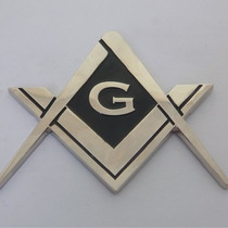 Emblema Auto Coche Mason Masoneria Simbolo Masonico Acero