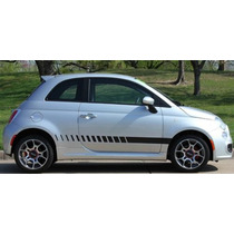Franjas Sticker Vinil Fiat 500 Strobe Lateral Stripe Down