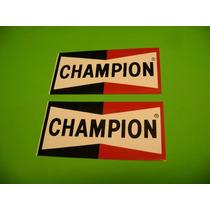 Jgo De 2 Calcomanias Champion Tuning!!!