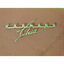 Vw Karmann Ghia Emblema De Cajuela Hood Script